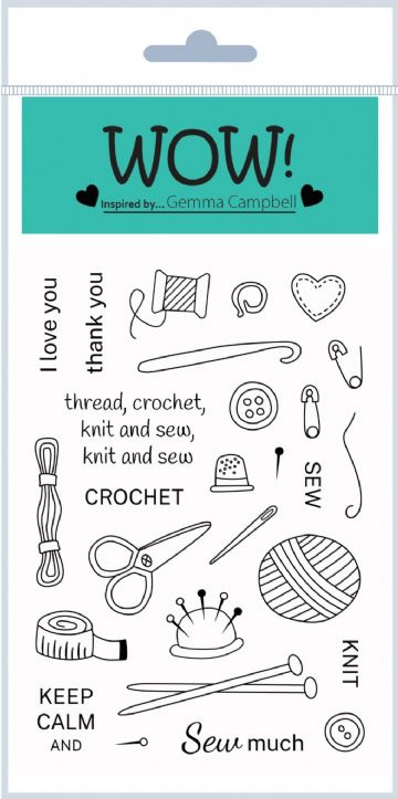 Simply Sew (by Gemma Campbell) - Clear Stamp Set